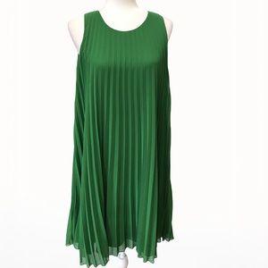Max Studio Pleated Chiffon Midi Women's Dress - L